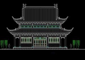 寺庙大殿cad方案图