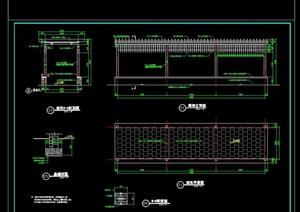 长廊架设计cad施工详图