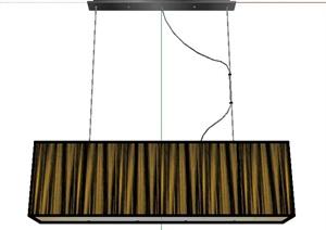 简约长方体吊灯设计SU(草图大师)模型