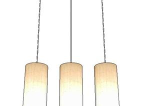 简约圆筒吊灯设计SU(草图大师)模型