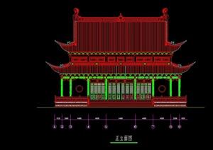 寺庙宝殿cad平立面方案