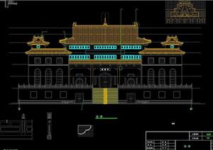 寺庙建筑cad方案