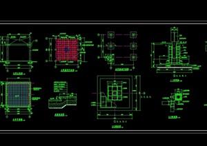 木廊架详细设计cad施工图