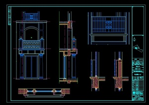 厦门某别墅石材建筑素材CAD图