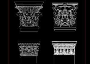 古代五柱式cad方案
