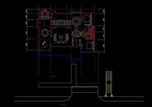 独栋别墅设计cad方案