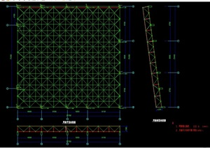 电影院观众厅网架cad结构图