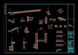某欧式别墅建筑构件CAD图