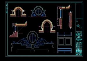 某欧式别墅石材构件CAD图