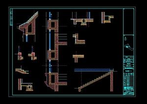 某别墅石材构件cad方案图