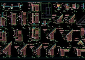 某别墅区建筑构件cad图