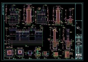 某别墅区石材建筑CAD构件图