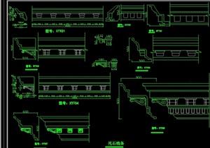 欧式建筑构件cad方案图库