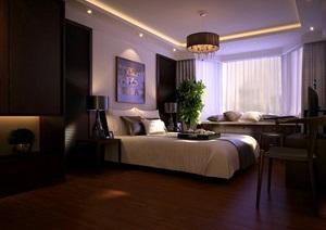 现代卧室空间装饰设计3d模型