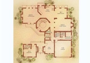 独栋别墅设计jpg户型图