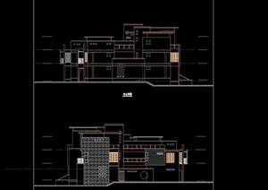 联排详细多层别墅设计cad方案