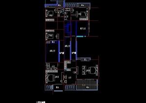 联排多层别墅设计cad方案图