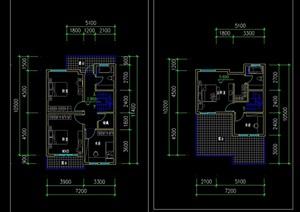 联排多层现代别墅设计cad方案