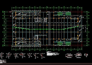 报告厅的结构cad图纸