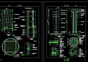 13个柱装饰cad详图