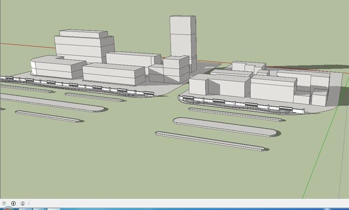 围墙绿化组合设计su模型(3)