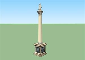 欧式景观柱子小品设计SU(草图大师)模型