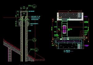 某现代建筑构件素材设计cad施工图