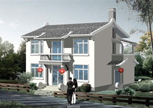 中式详细的二层别墅设计pdf施工图