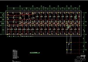 四坡屋面框架结构cad住宅设计