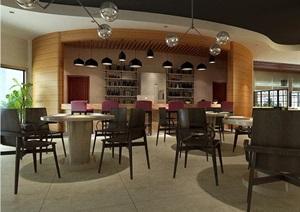 某餐饮包厢空间设计CAD施工图、3D模型及效果图