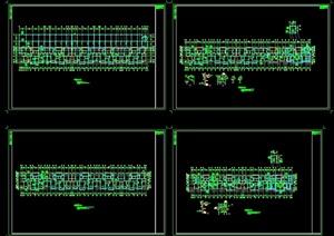 框架住宅基础cad平面结构图