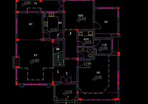 某别墅设计cad户型图