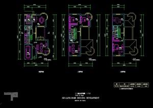 三层别墅设计cad户型图