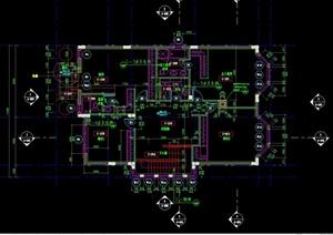 现代别墅建筑设计cad户型图