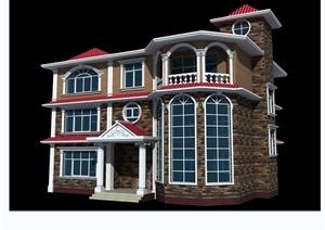 某别墅独栋设计cad方案图