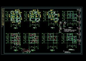 独栋多层别墅cad结构图