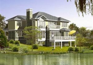 坡地独栋别墅cad方案设计