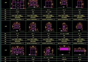 建筑门窗设计cad施工图