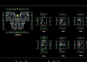 现代多种别墅户型cad平面图