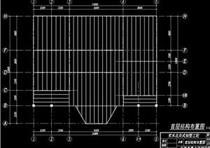 北美式别墅工程cad结构图