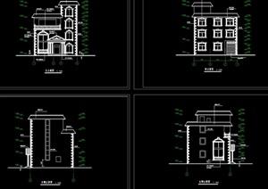 别墅建筑结构cad全套图纸