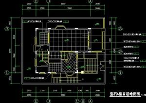 欧式别墅室内设计cad施工图