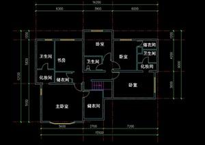 现代别墅建筑设计cad户型方案图