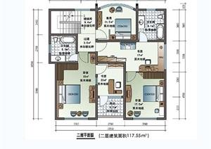 独栋多层别墅设计cad、jpg方案图