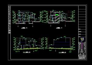 现代多层独栋别墅设计cad方案图