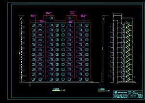 一字型框架住宅楼设计cad结构图