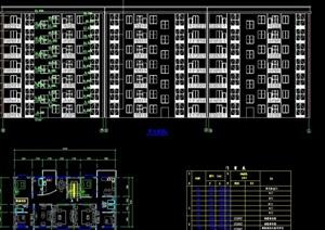 七层框架住宅楼cad结构图