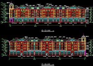 独立小型别墅建筑cad施工图