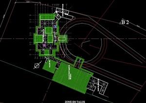 某欧式会所建筑顶面设计cad方案