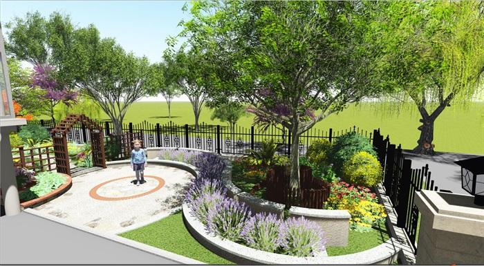 乡村美式庭院模型(2)